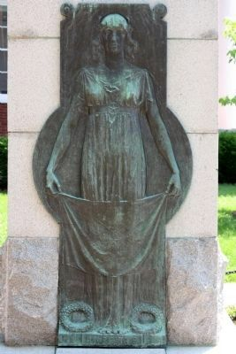 Washington County Confederate Monument Rear Relief image. Click for full size.