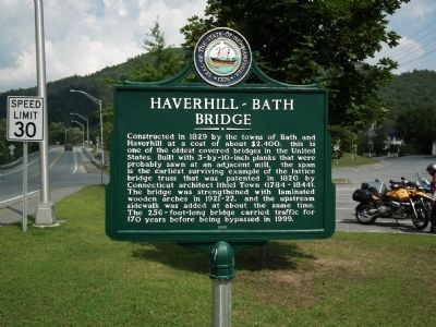 Haverhill-Bath Bridge Marker image. Click for full size.