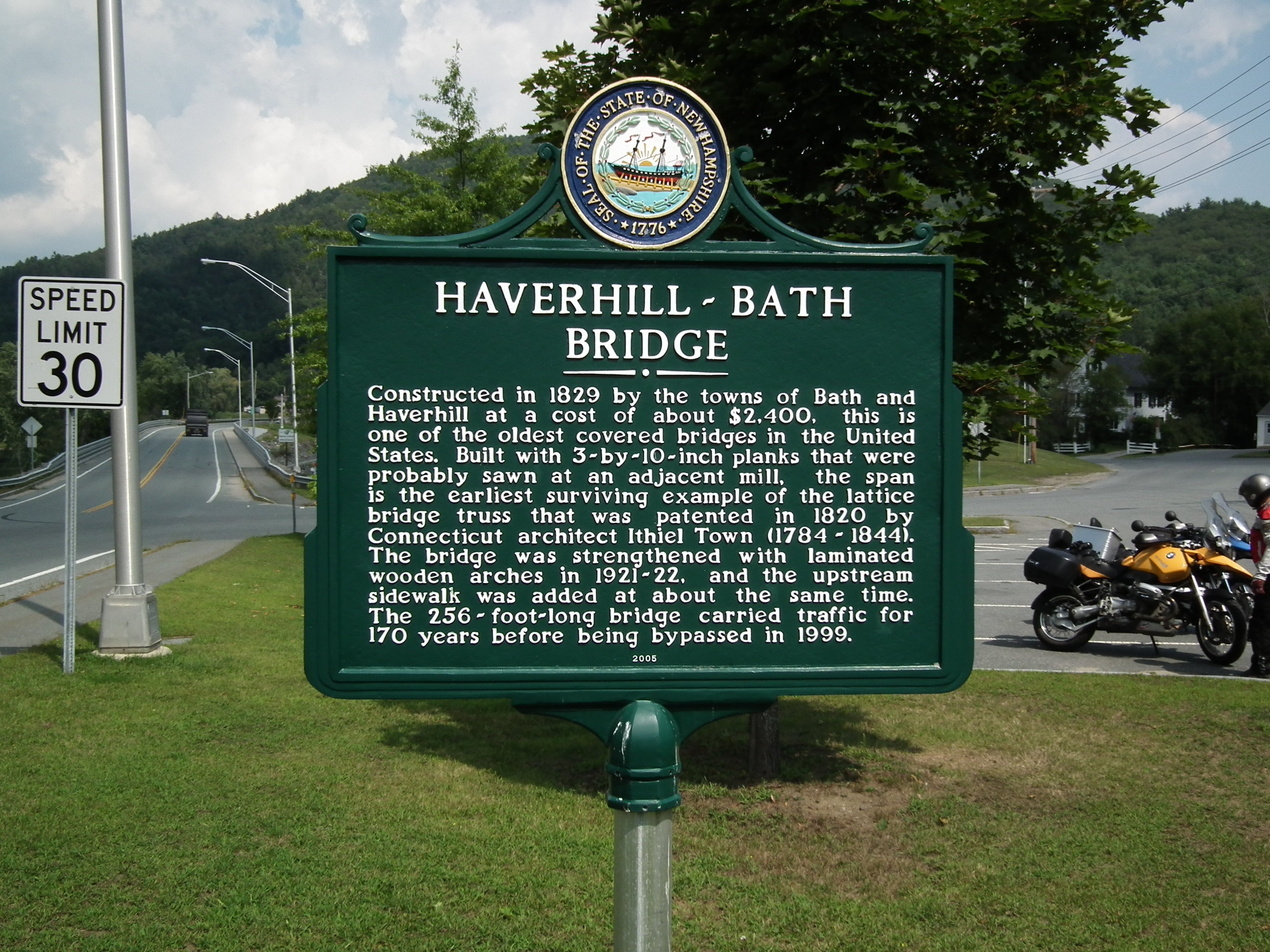 Haverhill-Bath Bridge Marker