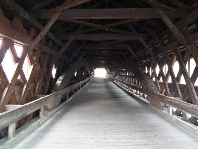 Haverhill-Bath Covered Bridge image. Click for full size.