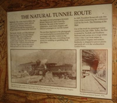 The Natural Tunnel Route Marker image. Click for full size.
