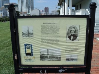 Lighthouse History Marker image. Click for full size.