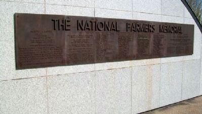The National Farmers Memorial Marker image. Click for full size.
