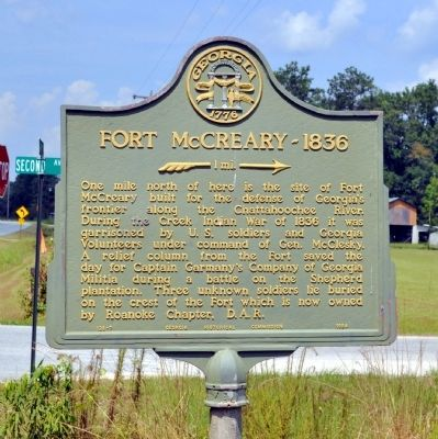 Fort McCreary – 1836 Marker image. Click for full size.