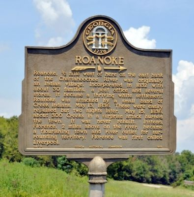 Roanoke Marker image. Click for full size.