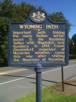 Wyoming Path Marker image. Click for full size.