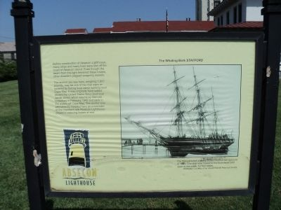 The Whaling Bark Stafford Marker image. Click for full size.