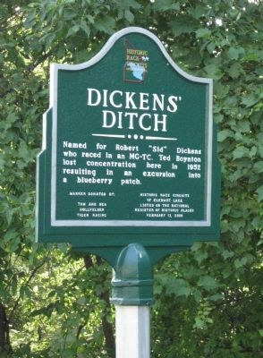 Dickens' Ditch Marker image. Click for full size.