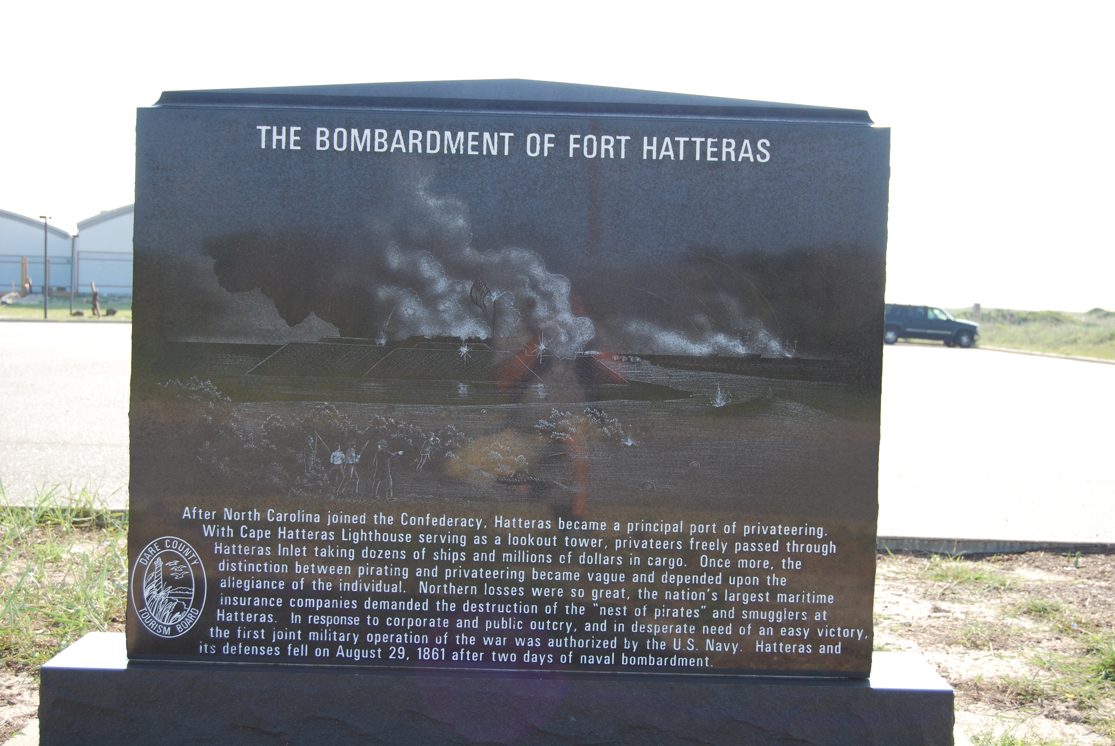 The Bombardment of Fort Hatteras Marker