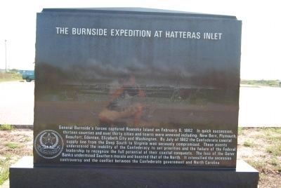 The Burnside Expedition at Hatteras Inlet Marker image. Click for full size.