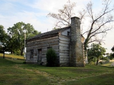 The Lincoln Cabin (replica) image. Click for full size.