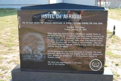 Hotel de Afrique Marker image. Click for full size.