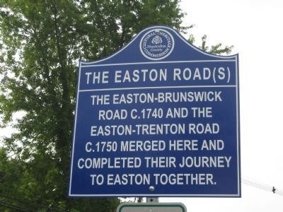 The Easton Road(s) Marker image. Click for full size.