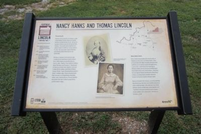 Nancy Hanks and Thomas Lincoln Marker image. Click for full size.
