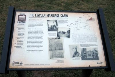 The Lincoln Marriage Cabin Marker image. Click for full size.