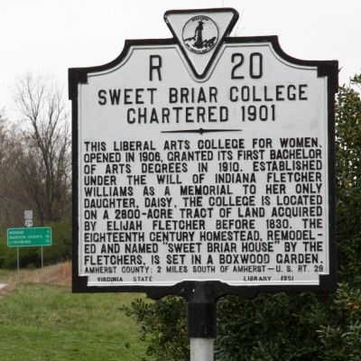 Sweet Briar College Marker image. Click for full size.