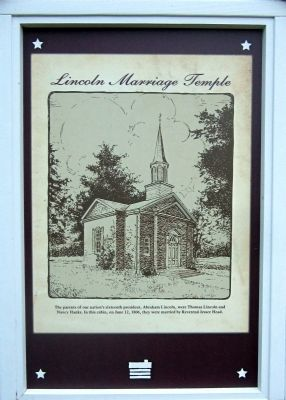 Lincoln Marriage Temple Marker image. Click for full size.
