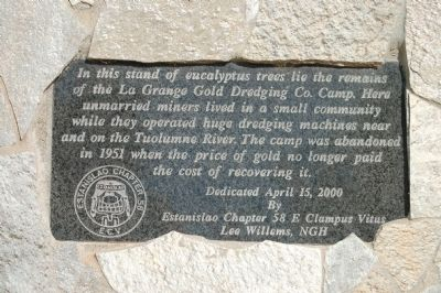 La Grange Gold Dredge Co. Camp Marker image. Click for full size.