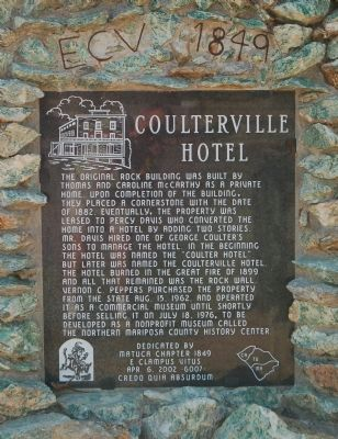 Coulterville Hotel Marker image. Click for full size.