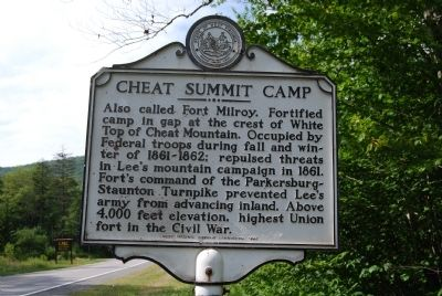 Cheat Summit Camp Marker image. Click for full size.