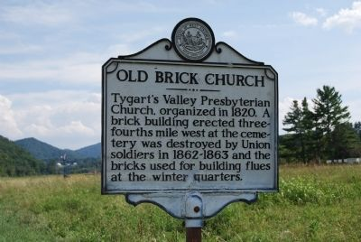 Old Brick Church Marker image. Click for full size.