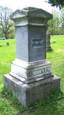 Grave Marker for Moses and Annie Grinter image. Click for full size.