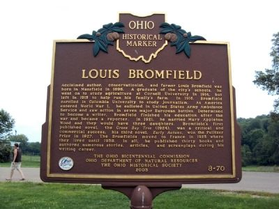 Louis Bromfield / Malabar Farm Marker image. Click for full size.