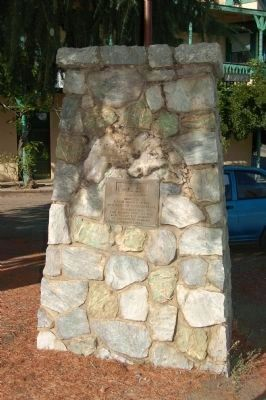 Memorial to the Pioneers of Coulterville in Front of the Jeffery Hotel image. Click for full size.