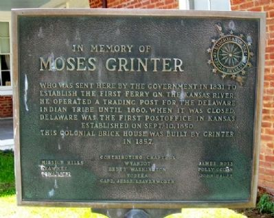 Moses Grinter Marker image. Click for full size.