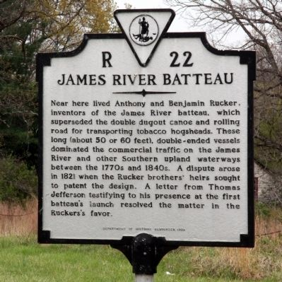 James River Batteau Marker image. Click for full size.