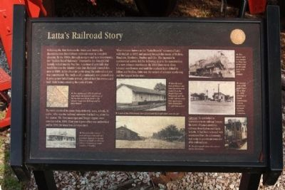 Latta's Railroad Story Marker image. Click for full size.