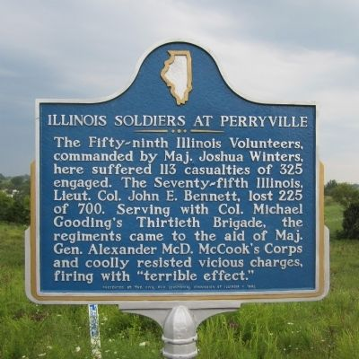 Illinois Soldiers At Perryville Marker image. Click for full size.