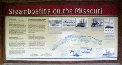 Steamboating on the Missouri Marker image. Click for full size.