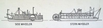 Line Drawings on Steamboating Marker image. Click for full size.