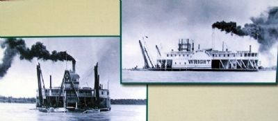 <i>H.G. Wright</i> Photos on Steamboating Marker image. Click for full size.