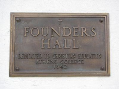 Founders Hall marker image. Click for full size.