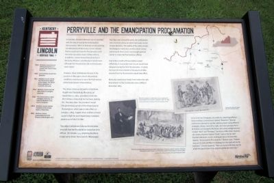 Perryvile And The Emancipation Proclamation Marker image. Click for full size.