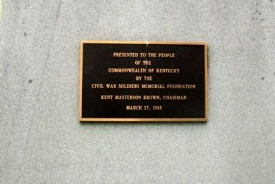 Dedication Plaque (rear of monument) image. Click for full size.