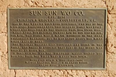 Sun Sun Wo Co. Marker image. Click for full size.