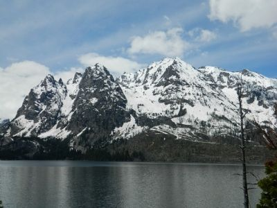 Jenny Lake and The Grand Tetons image. Click for full size.