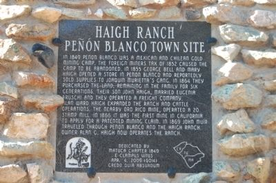 Haigh Ranch Marker image. Click for full size.
