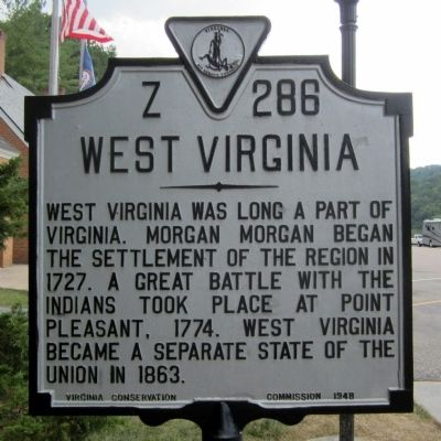 West Virginia Marker (obverse) image. Click for full size.