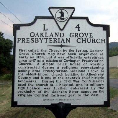Oakland Grove Presbyterian Church Marker image. Click for full size.