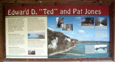 "Edward D. ""Ted"" and Pat Jones Marker image. Click for full size."