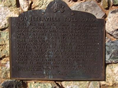 Coulterville Toll Road Marker image. Click for full size.