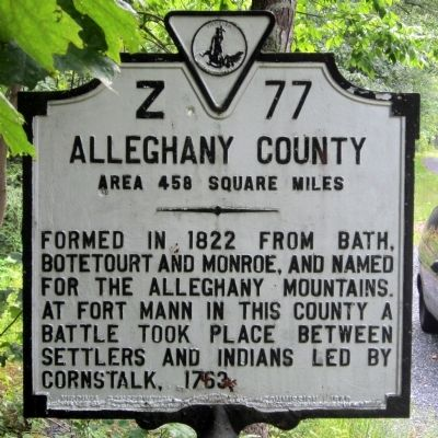 Alleghany County Marker (obverse) image. Click for full size.