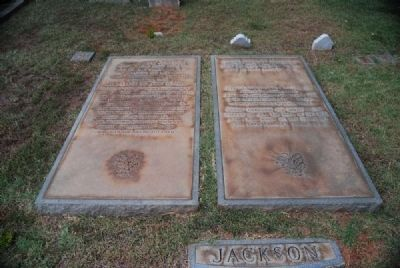 James Wyly & Alice Stewart Jackson Tombstone image. Click for full size.
