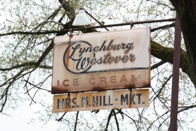 Metal Sign for the Mrs. M. Hill Market image. Click for full size.