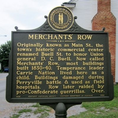 Merchants' Row Marker (obverse) image. Click for full size.