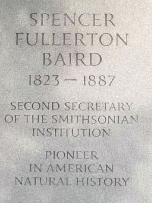 Spencer Fullerton Baird Marker image. Click for full size.